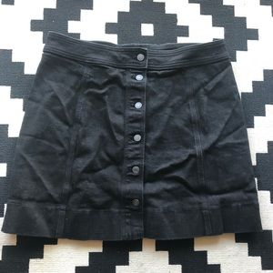 J.Crew Black Denim Button down Skirt